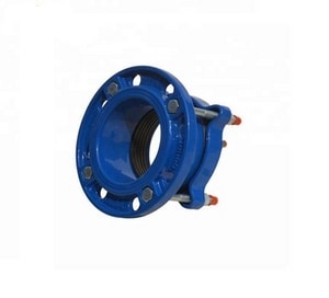 Custom Fab 16 in. x 5 ft. Flanged Powder-Coated Ductile Iron Pipe Spool FFPPC16S