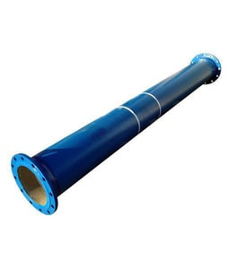 12-1/2 ft. x 4 in. Flanged Epoxy Lined Ductile Iron Pipe DFFPELP126