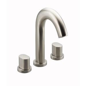 Kallista One™ 2-Hole Deckmount Widespread Lavatory Faucet with Double Cross Handle in Gunmetal KP24402CRGN