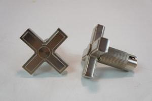 Kallista Vir Stil® Sink Faucet with Double Cross Handle in Nickel Silver KP24200CRAD