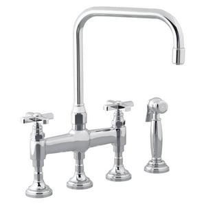 Kallista For Town 4-Hole Kitchen Faucet with Double Cross ...