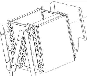 Rheem RXCE Series Coil Shield Kit for RCF4821S Furnace Split-System RXCEAN05