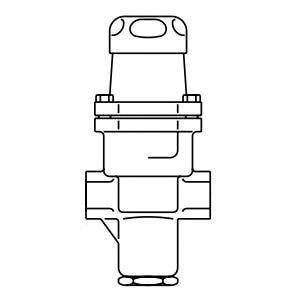 Spirax Sarco SRV2 1 in. NPT Stainless Steel Direct Operated Pressure Regulator (50 to 125psig) S1860890