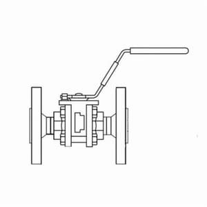 Spirax Sarco 1/2 in. Stainless Steel Reduced Port NPT Ball Valve S3397510