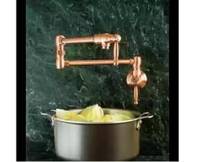 Newport Brass Nadya 1-Hole Wall Mount Pot Filler Faucet with Double Lever Handle in Uncoated Polished Brass - Living N9482/03N