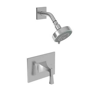 Newport Brass Joffrey Wall Mount Pressure Balance Shower Trim Plate with Single Lever Handle in Satin Nickel - PVD N4-2574BP/15S