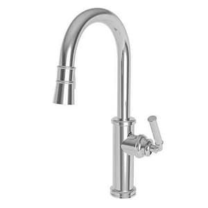 Newport Brass Taft 16-5/8 in. 1-Hole Kitchen Sink Faucet with Single Lever Handle in Antique Nickel N6597-2940-510315A