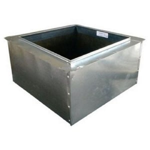 D & L Airflow Solutions 8 in x 4 in x 6 in Duct Square-To-Round SHMFB26XPU