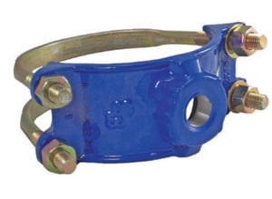 Smith Blair Inc 4 x 2-1/2 in. IP Ductile Iron and Stainless Steel Double Strap Saddle S31300051416000