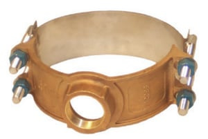 Smith Blair Inc 6 x 1 in. CC Cast Bronze Double Strap Saddle 6.90 - 6.63 in. S32500069009000