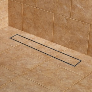 Signature Hardware Cohen 24 in. Tile Insert Linear Shower Drain in Brushed Stainless Steel SH404952