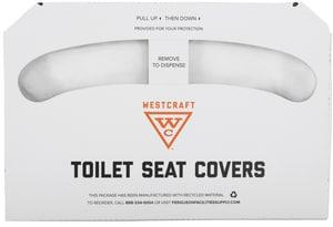 Westcraft Half-fold Regular Toilet Cover (Case of 1000) WC102569