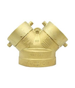 Brecco 4 x 2-1/2 x 2-1/2 in. Brass Straight Fire Department Connection BFDBS402525P