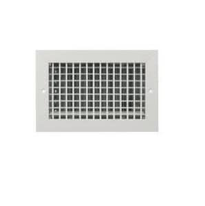 Airguide Mfg 26 x 4 in. Ceiling & Sidewall Register in White Extruded Aluminum AVHMEOB264WH