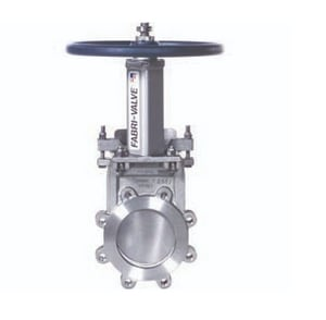 Fabri Valve C67 6 in. Stainless Steel Bidirectional Knife Gate Valve with EPDM Seat FC67R316EBUWHMRC6U