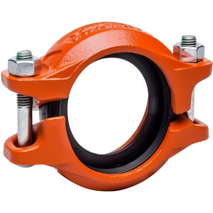 Victaulic QuickVic® Style 107N 2-1/2 in. Grooved Painted Ductile Iron Coupling with T-Gasket VL107PTN