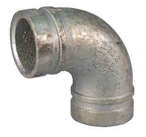 Style 10 3 in. Grooved Galvanized 90 Degree Elbow VF030010G00