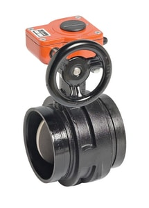 Victaulic Series 761 6 in. Ductile Iron EPDM Gear Operator Handle Butterfly Valve VV060761SE3