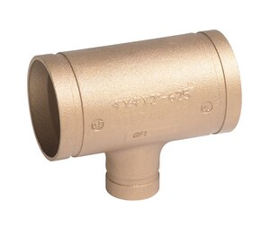 Victaulic No. 625 2-1/2 x 2-1/2 x 2 in. Grooved Copper Reducing Tee VF625C00