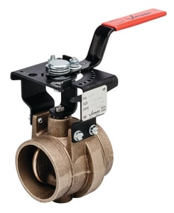 Victaulic Series 608N 2-1/2 in. Brass EPDM Locking Lever Handle Butterfly Valve VV608CE2