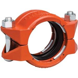 Style 99 3-1/2 in. Plain End Orange Enamel Carbon Steel Coupling VL034099PE0