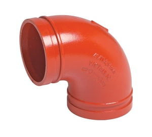 Victaulic 12 in. Grooved Painted 90 Degree Elbow VF120010P00