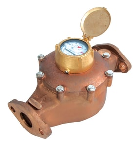 Zenner C700 1-1/2 in. Direct Read Positive Displacement Meter Cubic Feet Lead Free Bronze 2-Bolt Oval Flange ZPPD09CFXPPB