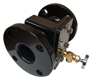 Mars Company Z-Plate 4 in. Flanged In-line Epoxy Fabricated Steel Strainer with Sand Trap MF2252930WH at Pollardwater