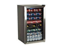Edgestar 33 in. Beverage Center in Black with Stainless Steel EBWC120SSLT