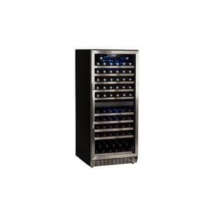 Edgestar 55 in. Built-In and Freestanding Dual Zone Wine Cooler in Black with Stainless Steel ECWR1101DZ