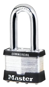 Laminated Steel Padlock with .3125 in. Shackle with .75 Vertical Clearance M1LJ at Pollardwater
