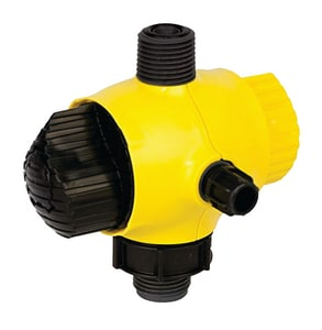 LMI LMI 1/4 in. OD Tube PVDF 4-Function Valve Assembly for 300 Series Metering Pumps L36389 at Pollardwater