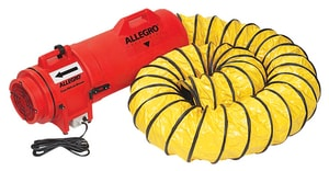 Allegro Industries Com-Pax-Ial 12V Axial DC Plastic Blower with Canister and Ducting A953615 at Pollardwater