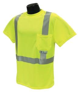 Radians Radwear™ XXXXL Size Birdseye Mesh and Plastic T-Shirt with Moisture Wicking in Hi-viz Green RST112PGS4X at Pollardwater