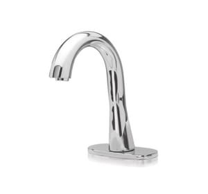 TOTO 1 gpm Gooseneck Spout Faucet with Single Supply in Polished Chrome TTEL3GG10CP