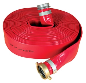 Abbott Rubber Co Inc 3 in. x 50 ft. MNPSH x FNPSH PVC Discharge Hose in Red A1152300050NPSH