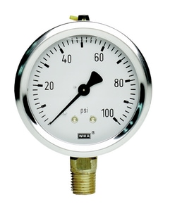 2-1/2 in. 100 psi 1/4 in. FNPT Pressure Gauge Liquid Filled W50048805 at Pollardwater
