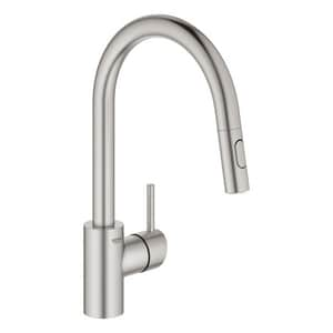 Grohe Concetto Single Handle Pull Down Kitchen Faucet In Supersteel Infinity 32665dc3 Ferguson