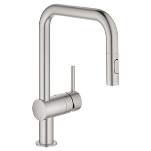 GROHE Minta Monoblock Single Handle Pull Down Kitchen Faucet in SuperSteel Infinity™ G32319DC3