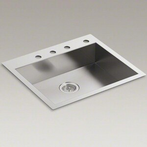 Kohler Vault 25 X 22 X 6 5 16 In Single Bowl Dual Mount