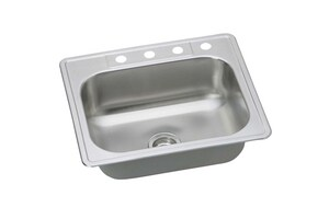 PROFLO® Bealeton 25 x 22 in. Single Bowl Drop-In Stainless Steel Kitchen Sink 3 Hole PFSR25226