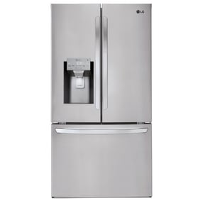 LG Electronics 14.8 cf Freestanding French Door Refrigerator in Printshield™ Stainless Steel LGLFXC22526S