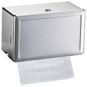 Bobrick 7-1/4 x 12-1/4 in. Paper Towel Dispenser in Satin Stainless Steel BB263