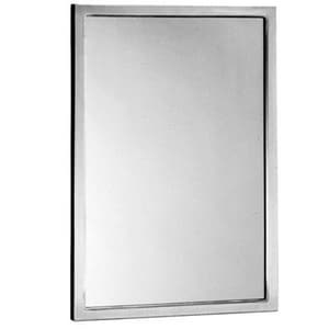 Bobrick 48 x 24 in. Stainless Steel Channel Frame Mirror BB16524