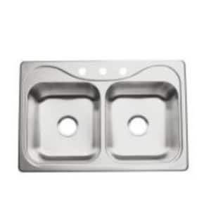 Sterling Southhaven® 33 x 22 x 6-1/2 in. Double Bolw Kitchen Sink S11400NA