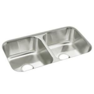 Sterling McAllister® 32-15/16 x 18-1/8 in. Stainless Steel Double Bowl Undermount Kitchen Sink S11444NA