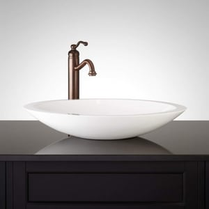 Signature Hardware Abriana ABRIANA OVAL GLOSS RESIN VESSEL SINK SH422534