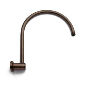 Signature Hardware Modern 12-3/4 in. Brass Wall Mount Shower Arm and Flange in Oil Rubbed Bronze SH406577