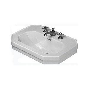 Duravit 1930 Series 3-Hole Pedestal Wash Basin in White Alpin D0438600030