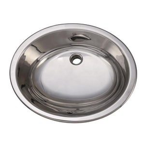 DECOLAV® Simply Stainless™ 19-1/4 x 16-1/4 in. Oval Stainless Steel Lavatory Polished Stainless Steel D1300P
